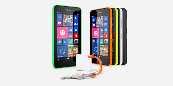 Nokia Treasure Tag Mini ja Lumia 630