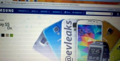 Samsung Galaxy S5 mini? @evleaksin julkaisema kuva