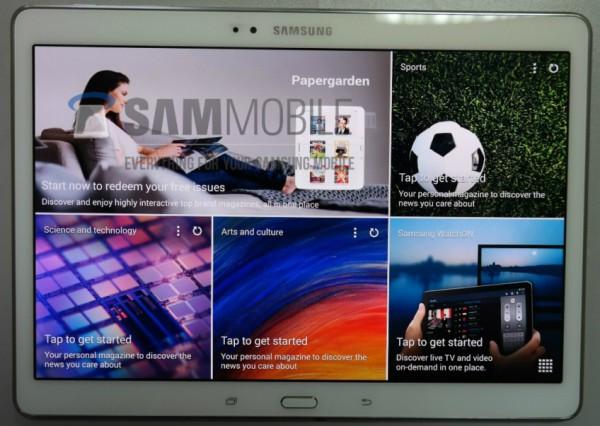 Samsung Galaxy Tab S 10.5 edestä SamMobilen julkaisemassa vuotokuvassa