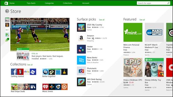 Uusi Windows Store
