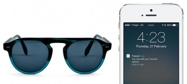 Tzukurin aurinkolasit pitävät yhteyttä iPhonen kanssa
