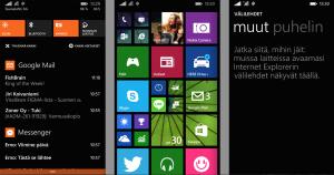 Windows Phone 8.1:n uudistuksia: Toimintakeskus, monipuolisempi kotinäkymä, kehittyneempi Internet Explorer 11
