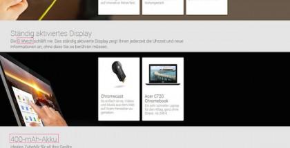AndroidPit: Hetkellisesti Google Play -kaupassa näkyneet G Watch -tiedot