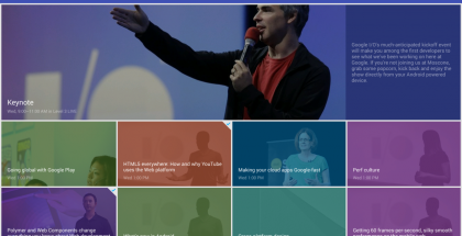 Kuvakaappaus Google I/O 2014 -sovelluksesta
