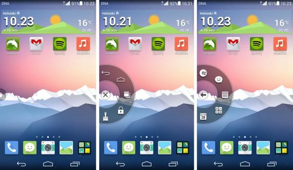 Huawei Ascend P7:n kelluva painike