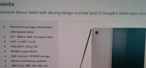 Mahdollinen mallikuva sekä tietoja HTC:n tulevasta Nexus-tabletista