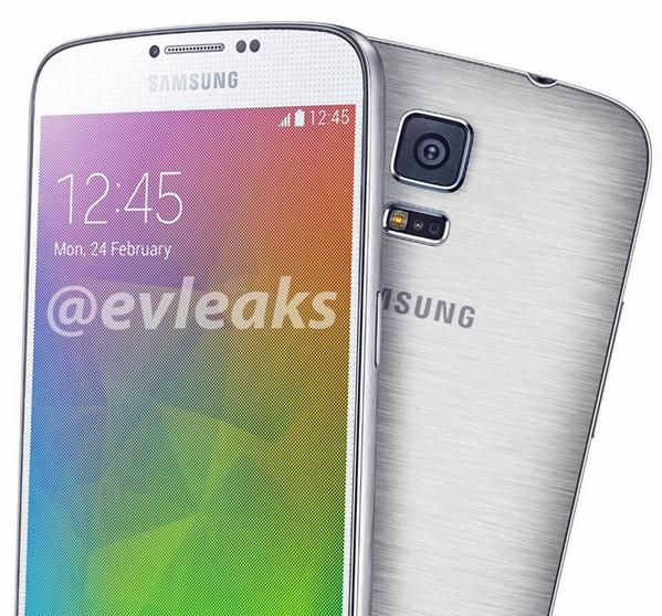 Samsung Galaxy F @evleaksin julkaisemassa kuvassa