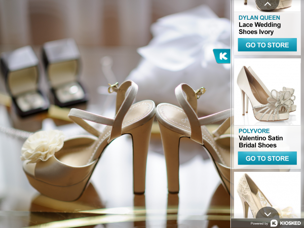Wedding shoe image with Kiosked carousel