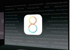 iOS 8:n ominaisuuksien esittelytilaisuus