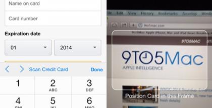 Safari tarjoutuu skannaamaan pankkikortin iOS 8:ssa