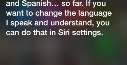 iOS 7:n Sirin osaamat kielet