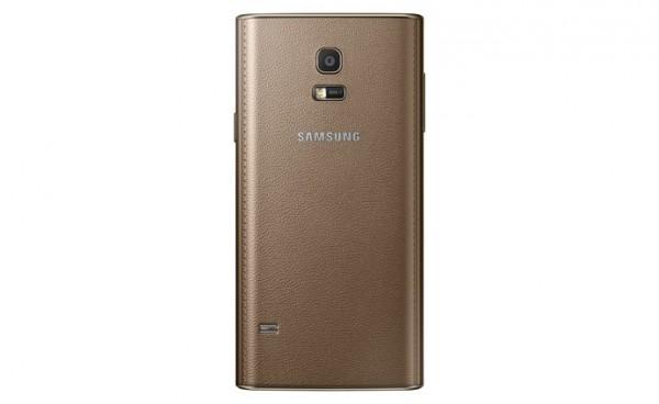 Samsung Z:n takakuori ruskeana