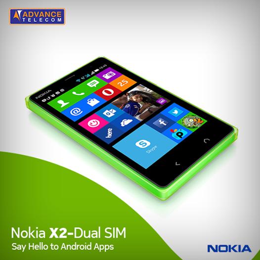 Nokia X2 pakistanilaisen Advance Telecomin Facebook-sivulla