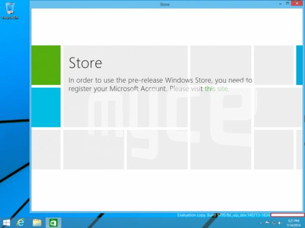 Windows 9 -kuvakaappaus 2