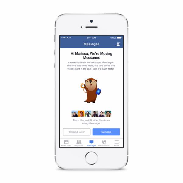 Facebookin tiedoteviesti Messenger-muutoksesta