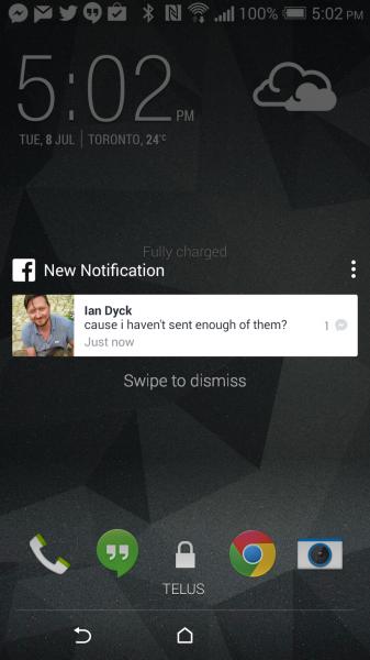 TechCrunch: Facebookin ilmoitukset puhelimen lukitusruudulla