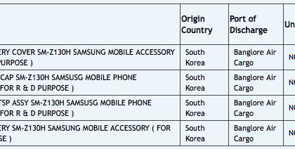 Samsungin uuden, edullisen Tizen-puhelimen komponentteja matkalla Intiaan testikäyttöön
