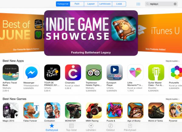App Store iPadillä