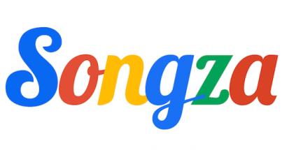 Songzan logo Googlen väreissä
