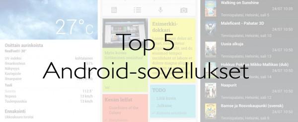 Viisi parasta Android-sovellusta