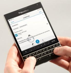 BlackBerry Passportin näppäimistö