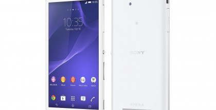 Sony Xperia C3 valkoisena
