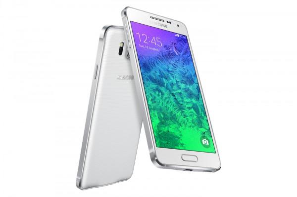Samsung Galaxy Alpha valkoisena