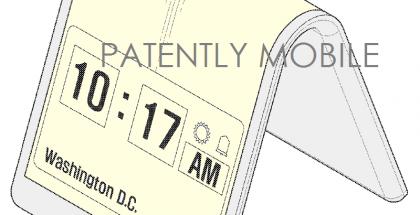 Kuvia Samsungin patenttihakemuksesta taipuvanäyttöisellle kellolle