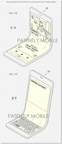 Samsungin patenttihakemuksessa näyttö on taivuteltavissa koko pituudeltaan