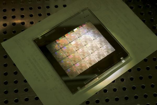 Kuva piirejä valmistavan TSMC:n tehtaalta