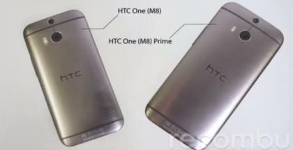 Vuotokuvassa HTC (M8) One sekä aiemmin Primeksi veikkailtu puhletti, One (M8) Max