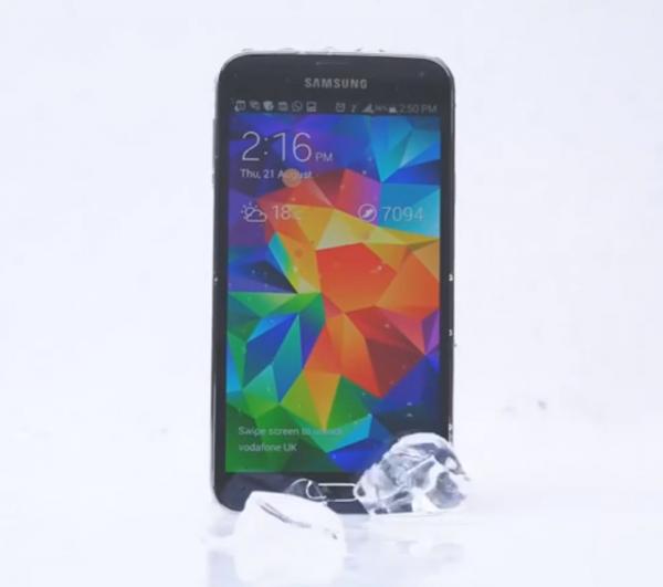Samsung Galaxy S5 otti osaa ALS-jäävesihaasteeseen