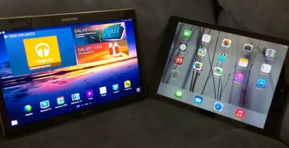 Samsung Galaxy Tab S 10.5 ja Applen iPad Air