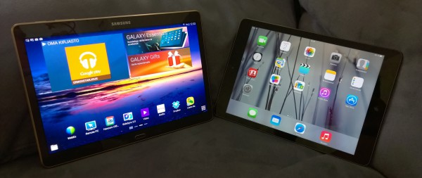 Samsung Galaxy Tab S 10.5 ja Applen iPad Air