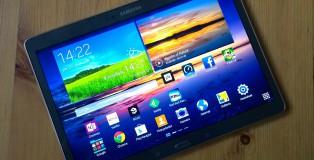 Samsung Galaxy Tab S 10.5:ssä erityisesti vihreä väri pomppaa silmille