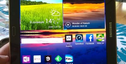 Galaxy Tab S 10.5:ssä kuvasuhde on 16:10.