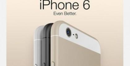 """China Telecomin """"vuotama"""" kuva iPhone 6:n ulkonäöstä ja värivaihtoehdoista. Oikeasti kuva on kahden harrastajan tekemä tietokonemallinnus."""