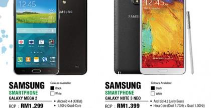 Vielä julkaisematon Samsung Galaxy Mega 2 malesialaisen jälleenmyyjän sivuilla