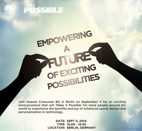 Huawein kutsu 4. syyskuuta järjestettävään esittelytilaisuuteen
