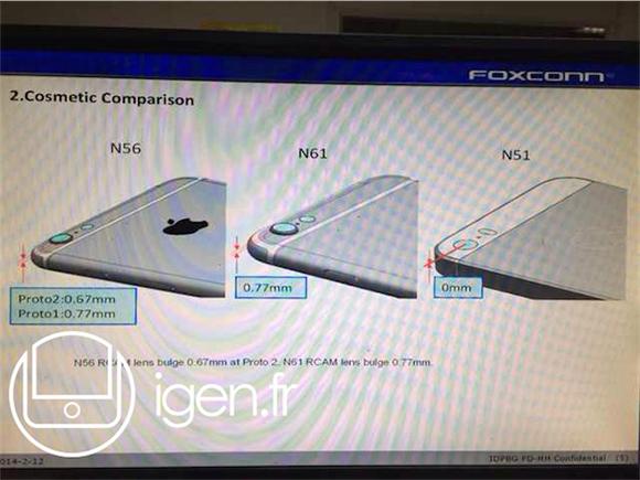 Tulevissa iPhone 6 -malleissa saatetaan käyttää takakuoresta koholla olevia kehyksiä kameran linssin ympärillä