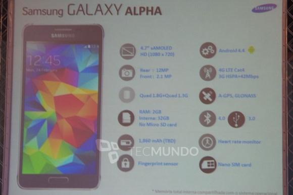Samsung Galaxy Alphan ominaisuuksia esiteltiin Venäjällä ennen virallista esittelyä
