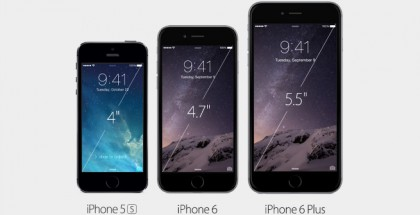 iPhone 5s, iPhone 6, iPhone 6 Plus.