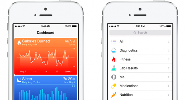 iOS 8:n Terveys-sovellus