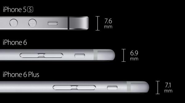 Uudet iPhone 6 ja 6 Plus ovat edeltäjäänsä ohuempia