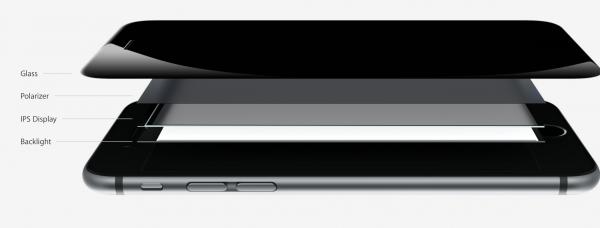 iPhone 6:n näytön rakenne