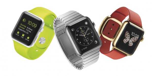 Alkuperäisiä Apple Watch -malleja.