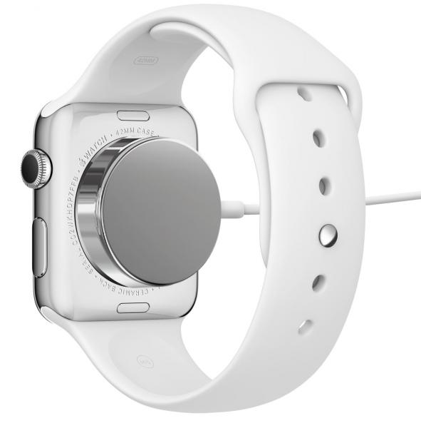 Apple Watching magneeteilla kiinnittyvä induktiivinen laturi