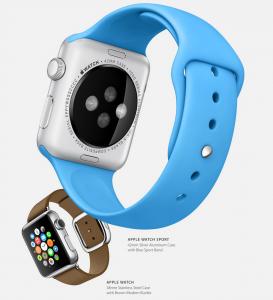 Sykemittarin antureita Apple Watchin pohjassa