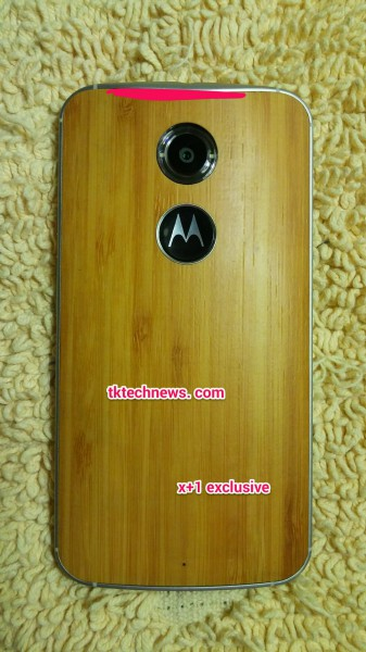 Motorola Moto X+1:n takapaneelin logo on ohjelmoitava painike
