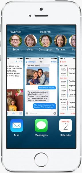 iOS 8:n moniajovalikosta löytyy nyt myös suosikkiyhteystiedot sekä viimeksi käytetyt yhteystiedot